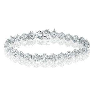 5.88 Carats Round Cut Gorgeous Diamond Lady Bracel